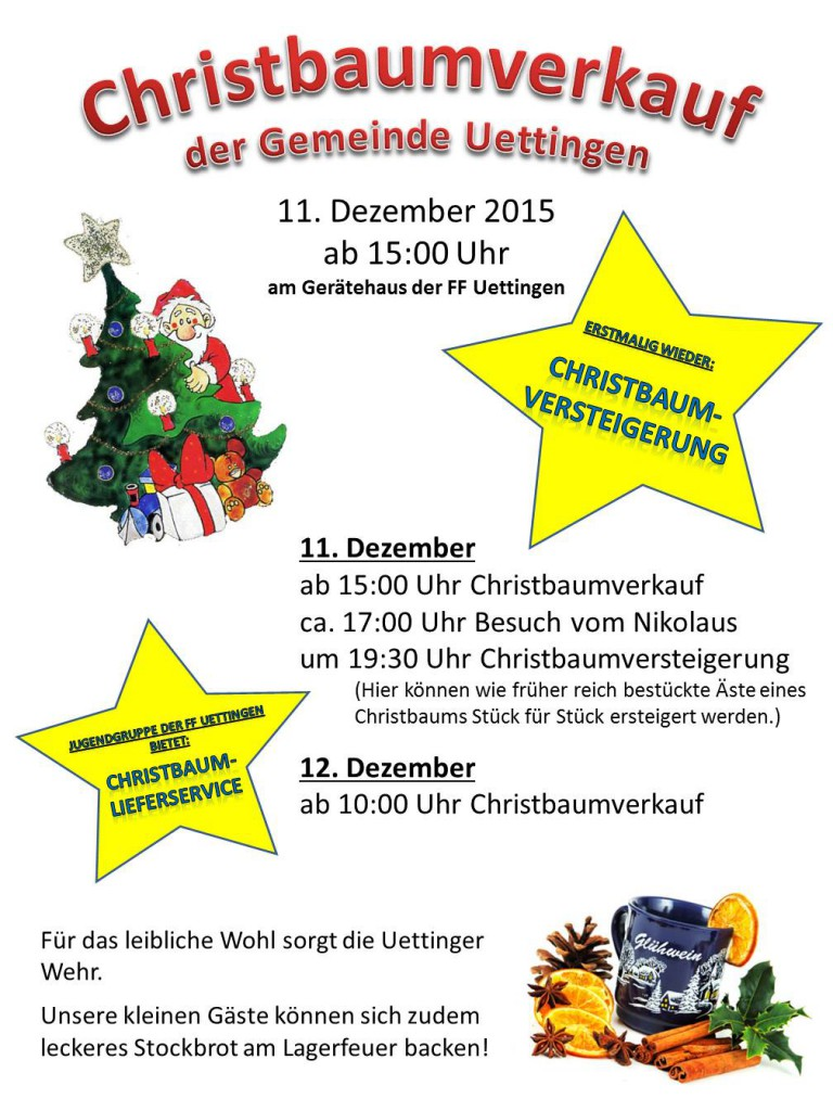 Plakat Christbaumverkauf 2015 V4